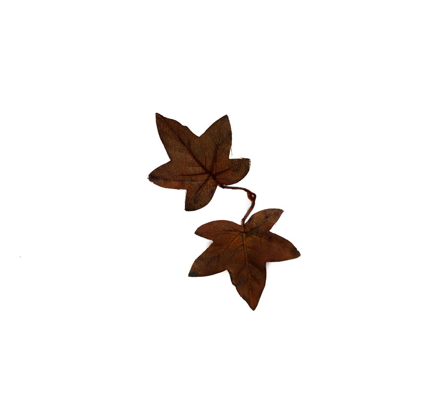 High Quality Artificial Maple Leaves (Dark Brown)