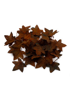 'Unique' High Quality Artificial Maple Leaves (Dark Brown)