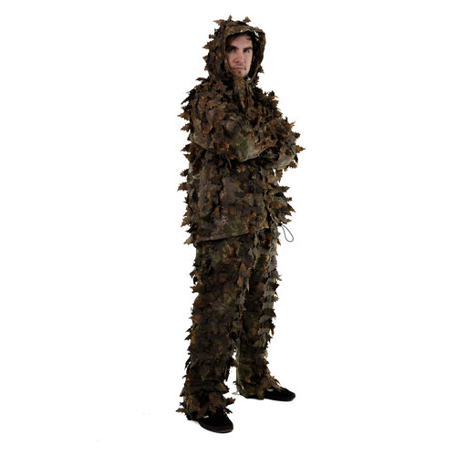 STALKER Dark Brown Leaf Suit