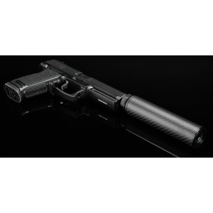Silverback Carbon Suppressor, Short, 16mm CW