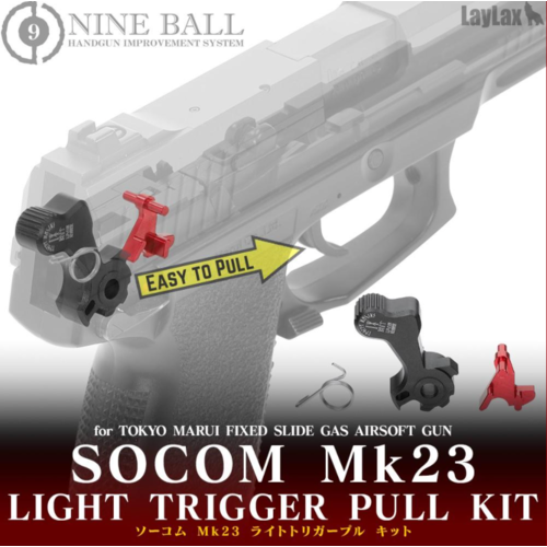 Nine Ball Light Trigger Pull Kit for Tokyo Marui Socom Mk23 NBB
