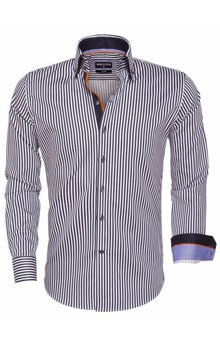 Wam Denim Overhemd Lange Mouw 75458 Navy