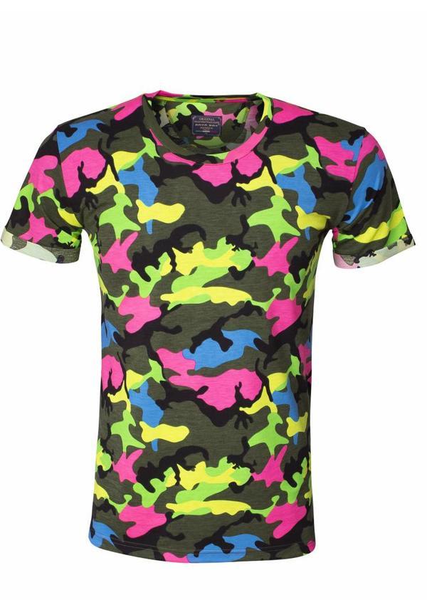 T-Shirt 89189 Green Fuchsia