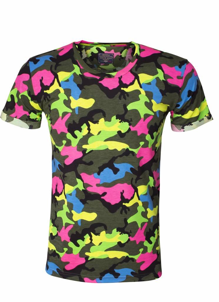 Arya Boy camo t-shirt groen fuchsia