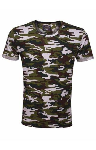 ARYA BOY Arya Boy camo t-shirt wit khaki