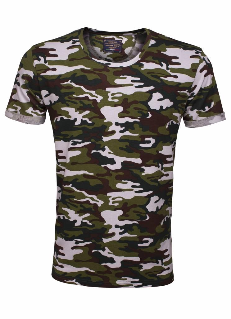 Arya Boy camo t-shirt wit khaki