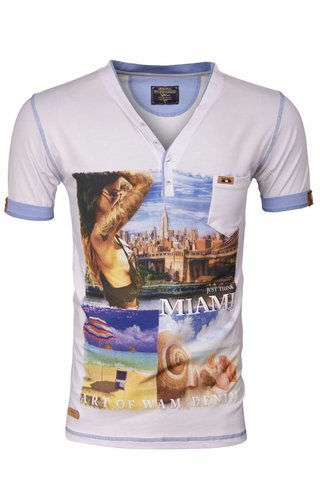 Wam Denim T-Shirt 79209 Miami White