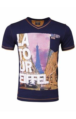 WAM DENIM Wam Denim t-shirt with print navy 79207