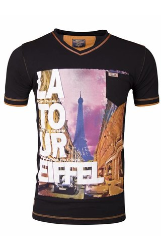 WAM DENIM Wam Denim t-shirt met print zwart 79207