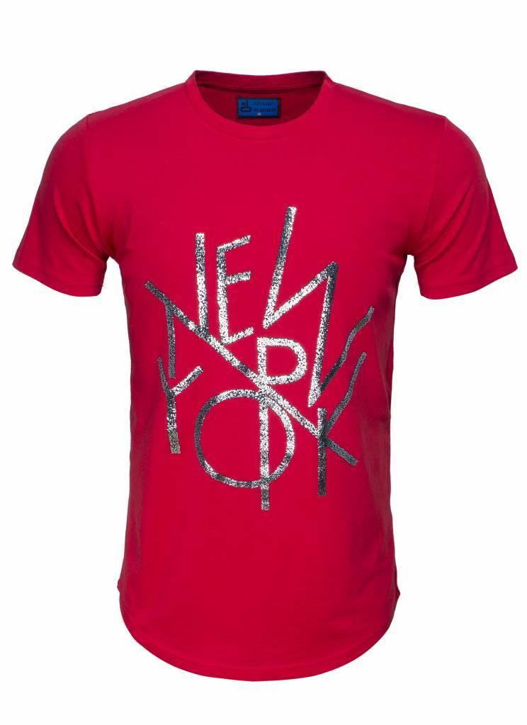 Arya Boy T-Shirt 89256 Red Maat: S