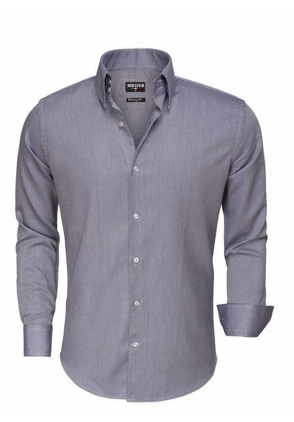 Overhemd Lange Mouw 75517 Navy