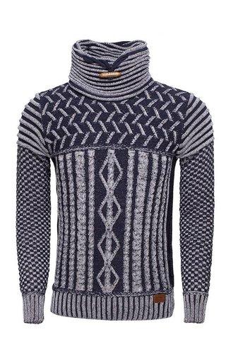 Wam Denim Sweater 77221 Navy White