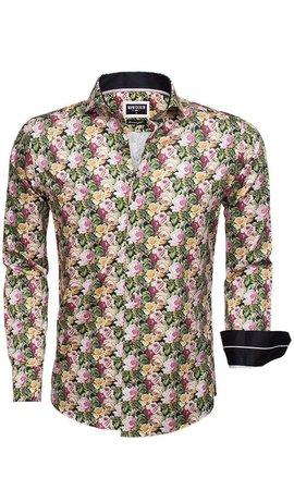 Wam Denim Shirt Long Sleeve 75520 Black Green