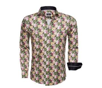 Wam Denim Overhemd Lange Mouw 75520 Black Green