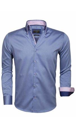 Gaznawi Overhemd Lange Mouw 65004 Cenova Dark Blue
