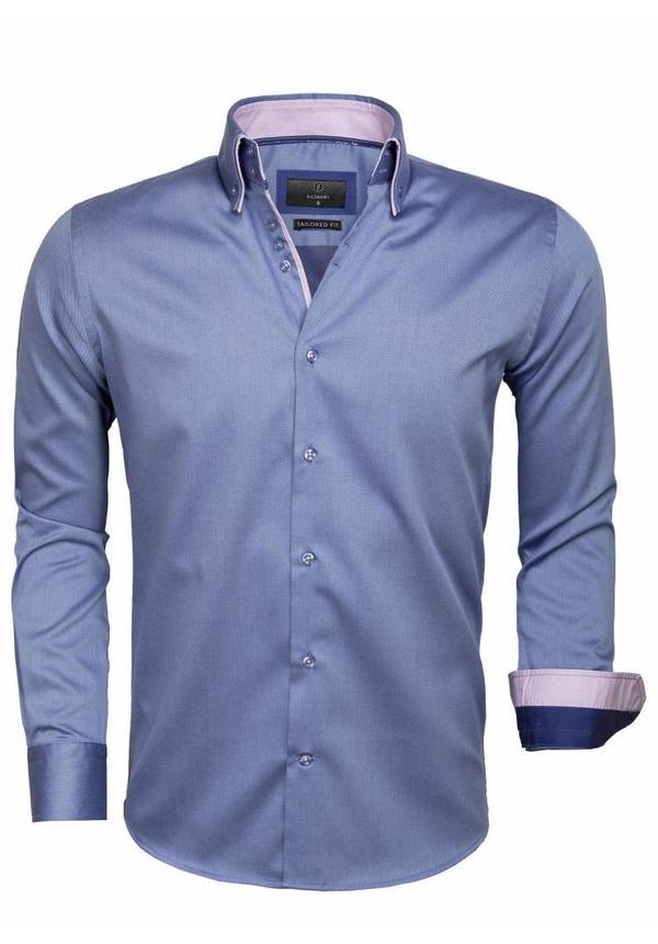 Overhemd Lange Mouw 65004 Cenova Dark Blue