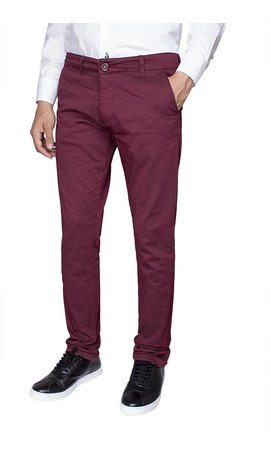 Wam Denim Chino 72073 Zelle Dark Red