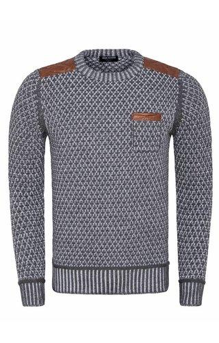 Wam Denim Sweater 77508 Alamos Anthracite White