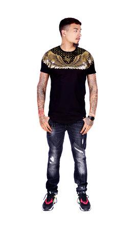 AVENUE GEORGE V PARIS T-Shirt 566 Black