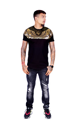 George V T-Shirt 566 Black