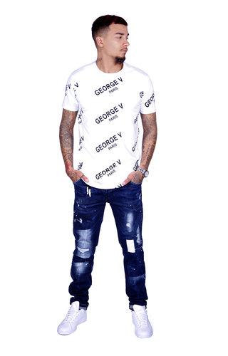 AVENUE GEORGE V PARIS T-Shirt 519 White