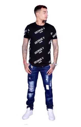 AVENUE GEORGE V PARIS T-Shirt 519 Black