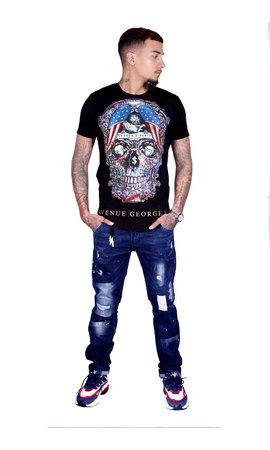George V T-Shirt 563 Black