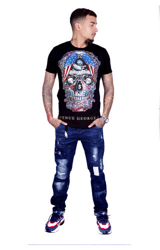 AVENUE GEORGE V PARIS T-Shirt 563 Black