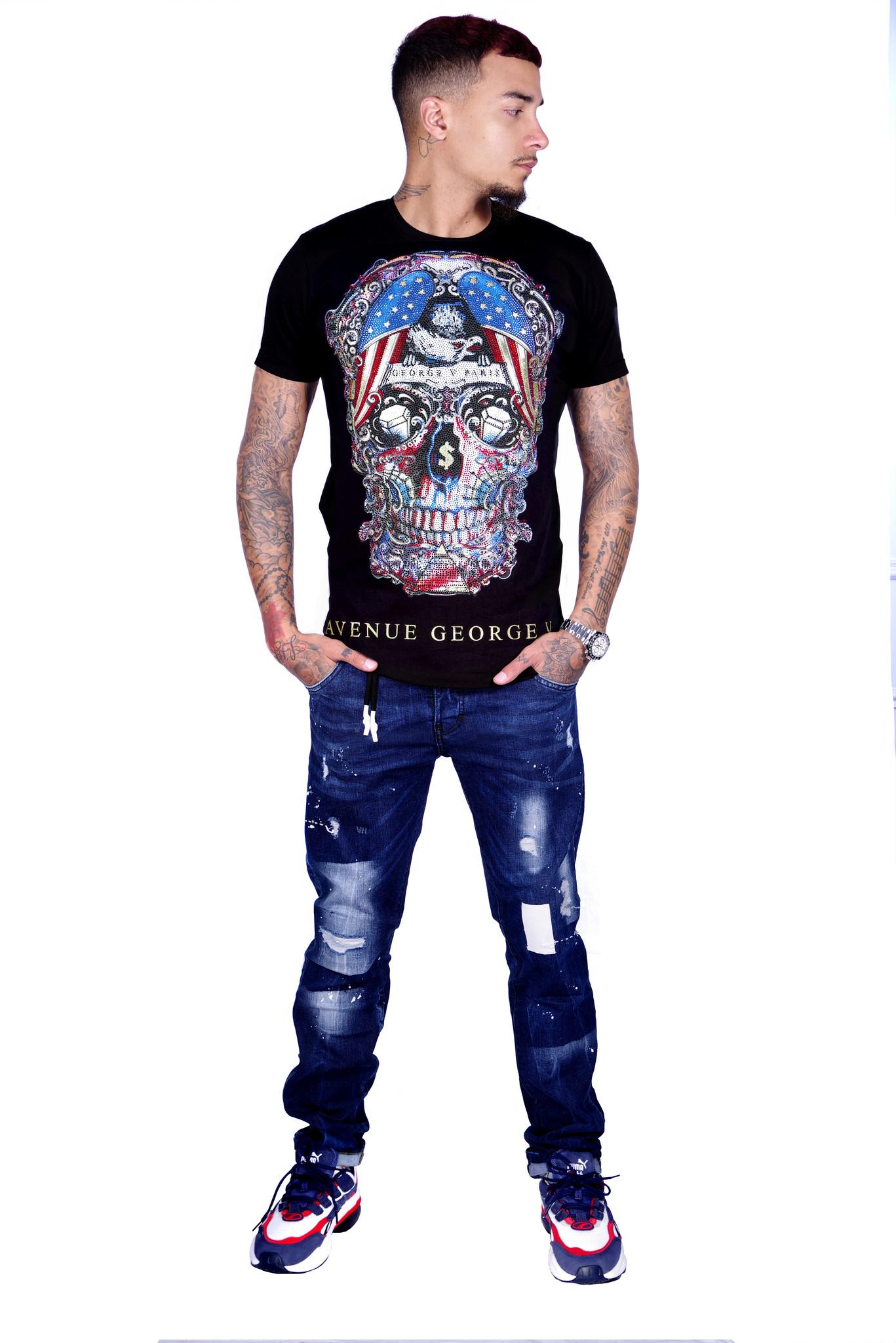 George V T-Shirt 563 Black S