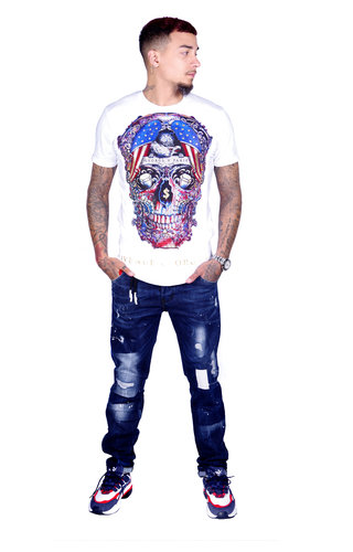 AVENUE GEORGE V PARIS T-Shirt 563 White