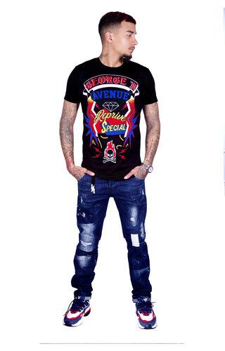 AVENUE GEORGE V PARIS T-Shirt 539 Black