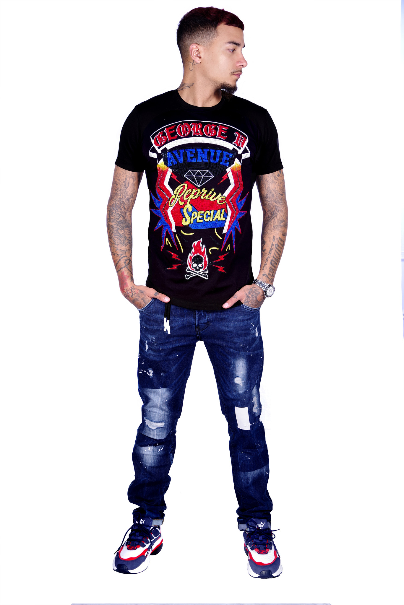 George V T-Shirt 539 Black M
