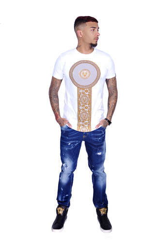 George V T-Shirt 600 White Gold