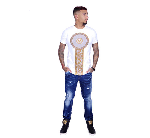 George V T-Shirt 600 White Gold