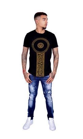 George V T-Shirt 600 Black Gold