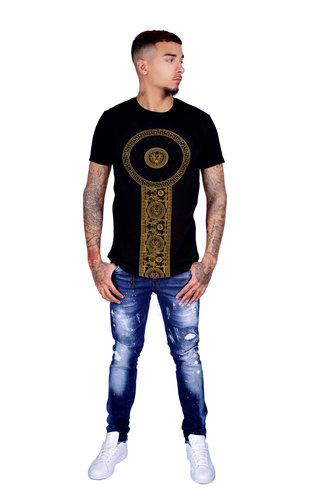 George V T-Shirt 600 Black Gold