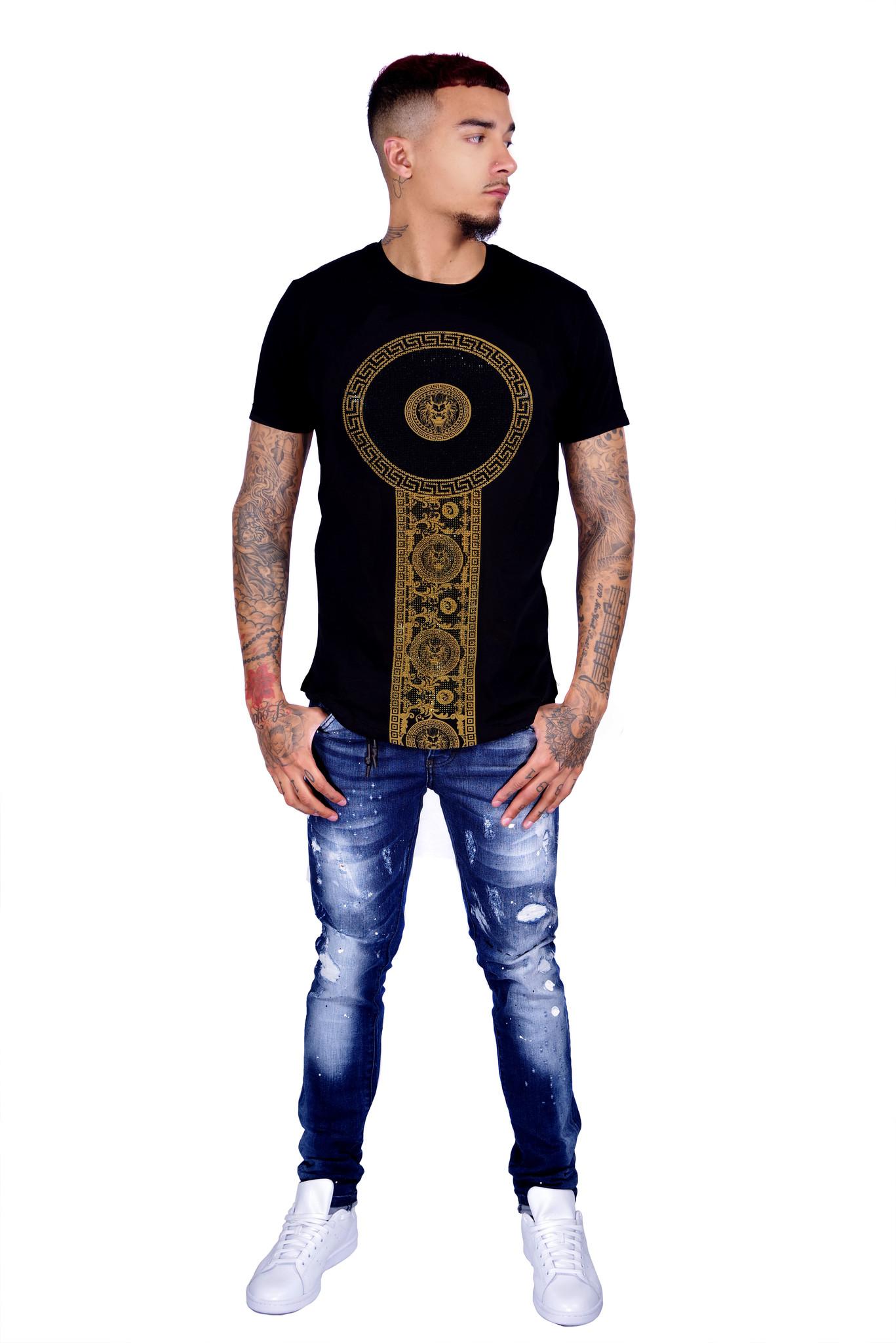 George V T-Shirt 600 Black Gold M