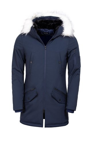Wam Denim Winter Coat 71236 Navy