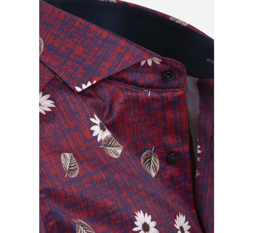 Overhemd Lange Mouw Dark Red