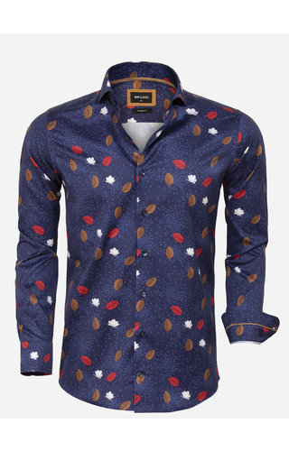 Wam Denim Overhemd Lange Mouw 75634 Braga Navy