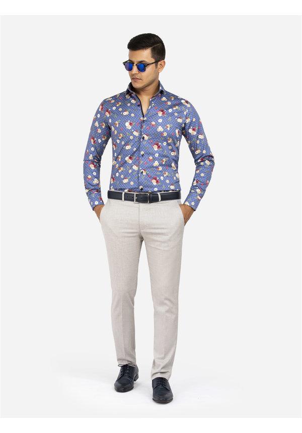 Overhemd Lange Mouw 75636 Amarante Dark Blue