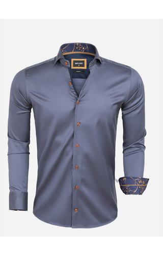 Wam Denim Overhemd Lange Mouw 75632 Aveiro Anthracite