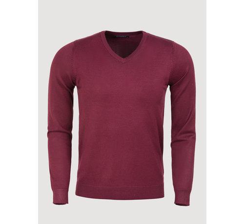 Blueberyl Sweater BK217-31 Dark Red