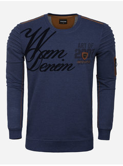 Wam Denim Sweater 76269 Buffalo Navy
