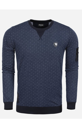 Wam Denim Sweater 76266 Kansas City Navy