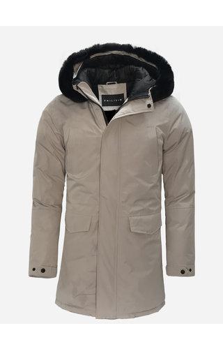 Frilivin Winter Coat FD852-4 Grey