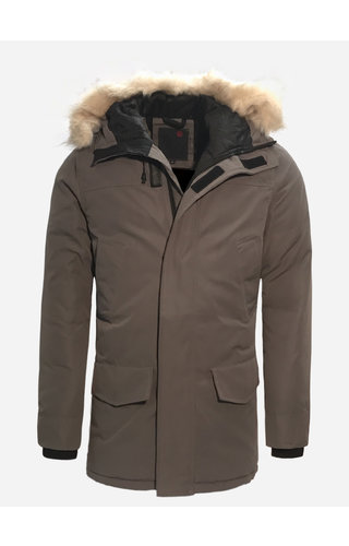 Just Key Winter Coat 1805 Light Grey