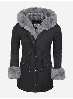 Arya Boy Winter Coat Ladies L524-1027 Black Grey
