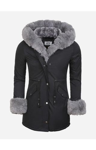 Artika Icewear Winterjas Dames L524-1027 Black Grey