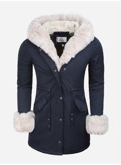 Arya Boy Winter Coat Ladies L524-2062 Blue Beige